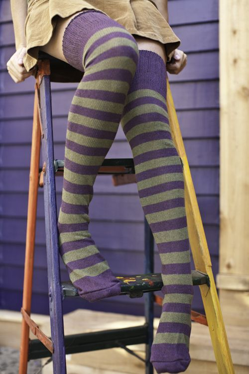 Super Stripes Knee Highs, $8 (SockDreams) - these ones also have Gryffindor colours ;)