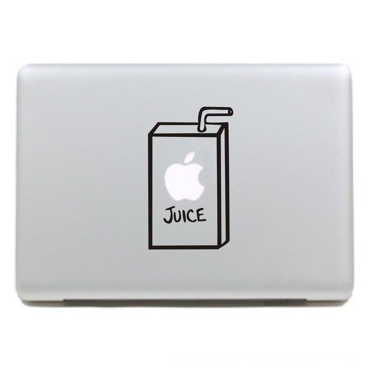 KujianTM-Juice Box Creative Decorative Decals Stickers for Apple Mac Macbook Air Pro Laptop Stickers Current 13 inch.