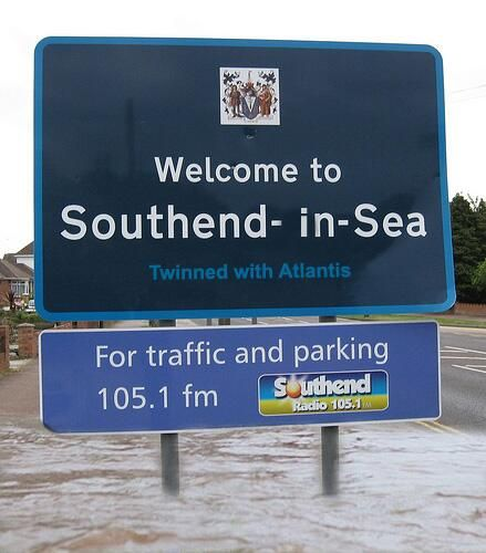 welcome to southend.....you need webbed feet at the moment!!