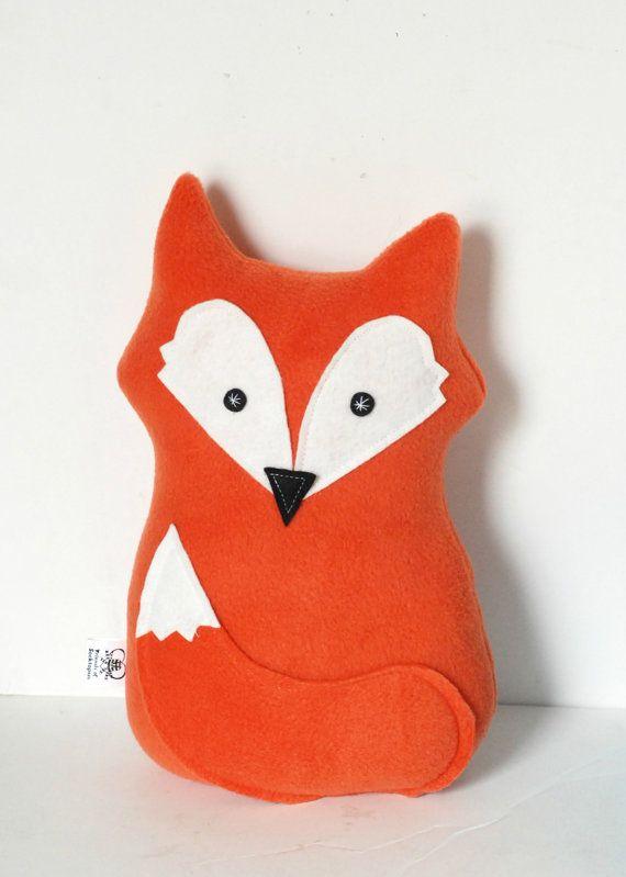 READY TO SHIP Fox Pillow Orange Fox Softie by FriendsOfSocktopus
