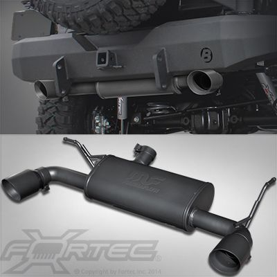 FORTEC® Dual Exhaust System by Magnaflow® for 07-up Jeep® Wrangler JK