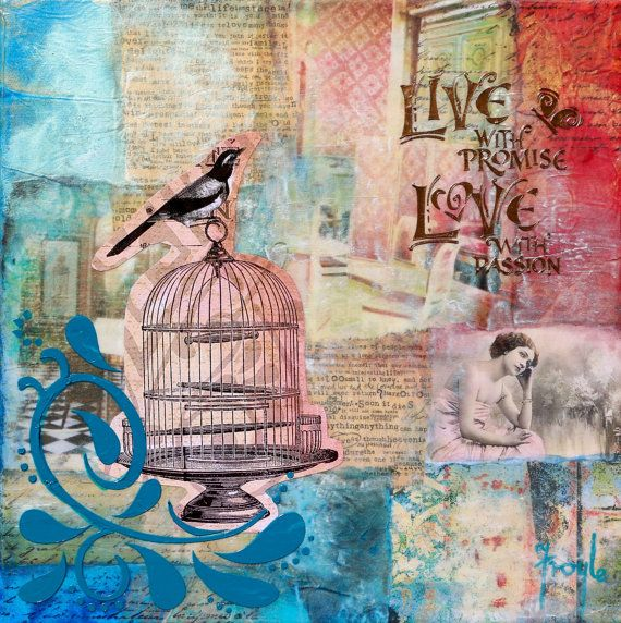 'Day Dream' mixed media collage, 30 x 30cm, $195. From my 'Love Letters' series. A series of prophetic paintings created as love letters from the Father to His beloved daughter. It has always astounded me that God knew us before He formed us (Psalm 139:15,16) and even before the foundation of the world (Eph 1:4). You were a thought in the mind of God that became a reality.