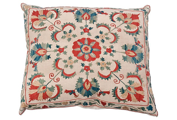 Uzbek Suzani Pillow on OneKingsLane.com