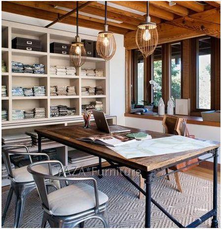 Французский древесины ретро вяза, чтобы сделать старый сосновый стол железный стол стол железный стол - Taobao