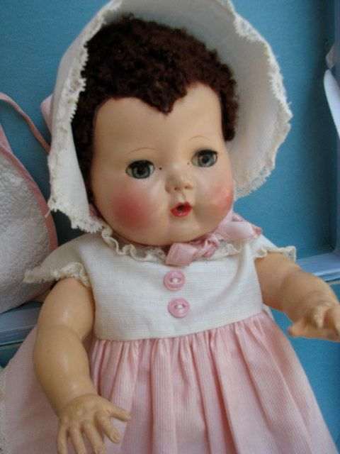 Vintage Tiny Tears Doll By American Character. $275.00, via Etsy.