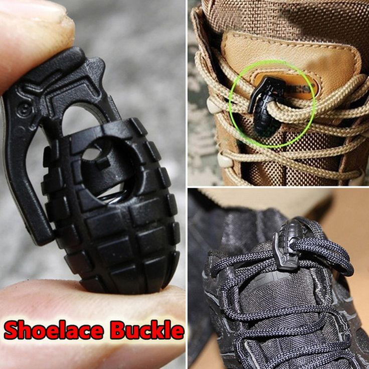 Hot 10 Pcs/Lot EDC Gear Tactical Outdoor Hiking Boots Shoes Grenade Shoelace Tightening Non-Slip Buckle Shoelace Buckle Clip