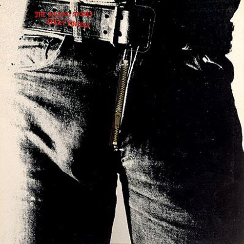 Rolling Stones album.  By Andy Warhol