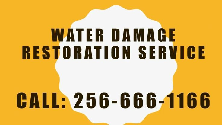 Water Damage Removal Huntsville AL | CALL: 256-666-1166