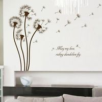 Room Decoration Removable Dandelion Pattern Wall Stickers