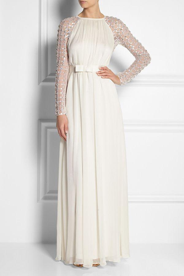 Um vestido de noiva contemporâneo   Simplesmente Branco