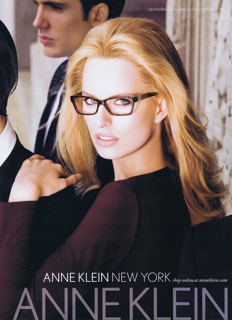 Karolina Kurkova for Anne Klein Eyewear, Fall/Winter 2010