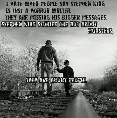 So true! Real life American people is the essence of most Stephen King's stories.