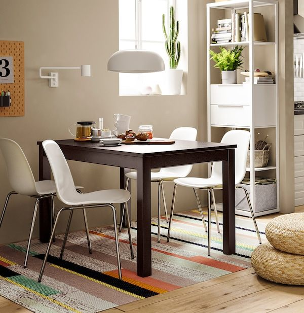 Laneberg Table Extensible Brun Ikea En 2020 Table A Rallonge Salle A Manger Ikea Table Extensible