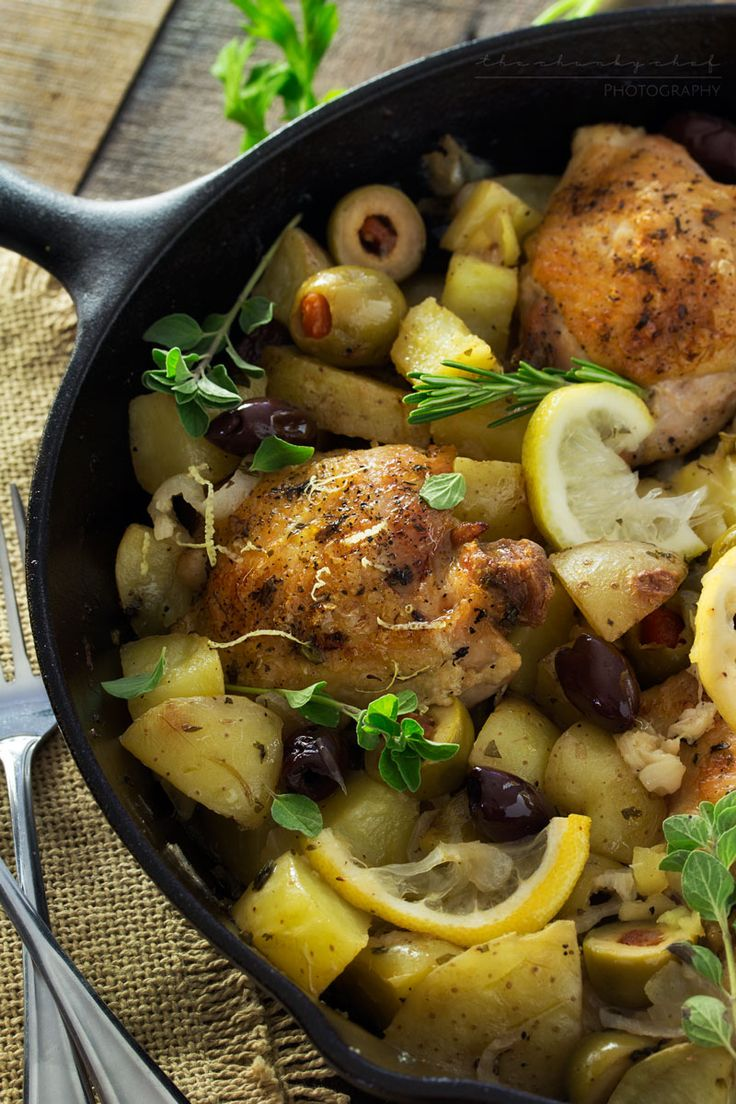 One Pan Mediterranean Braised Chicken with Potatoes ...