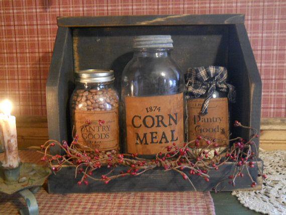 Primitive Jar Keep/ Farmhouse Jar Keep by PorchSittinPrimitive, $29.99