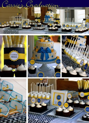 Cassie's Graduation Dessert Table | The Couture Cakery
