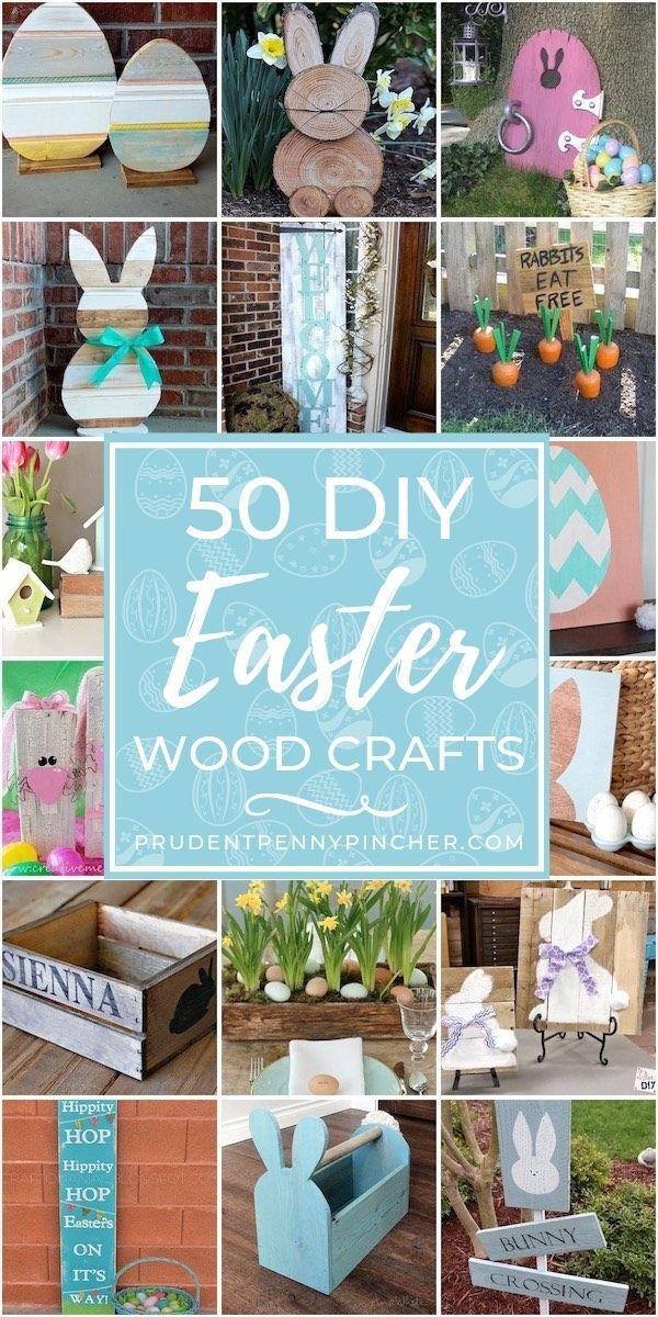 50 beste DIY Ostern Holz Handwerk