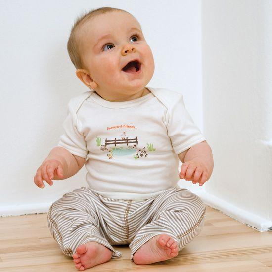 GREEN BABY Komplet tričko + tepláčky biobavlna - 1