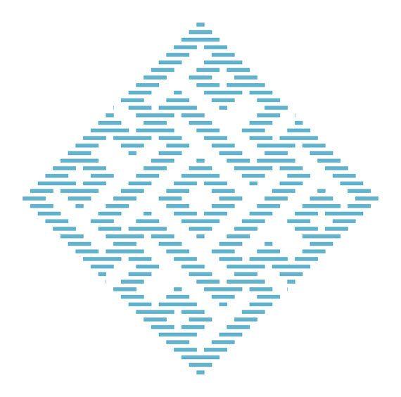 Kogin bordado padrão: QuarkBeast Tetris