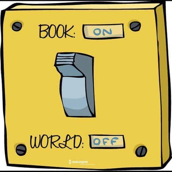 Book on, world off.