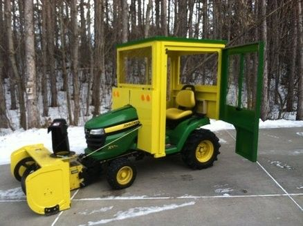 "Tractor Cab by Wolfdrool -- Homemade tractor cab constructed from fir, 1/4"" Baltic birch plywood, and 50X acrylic. http://www.homemadetools.net/homemade-tractor-cab-2"