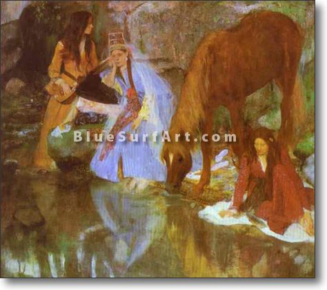 Mme Eugenie Fiocre in the Ballet La Source - £124.99 : Canvas Art, Oil Painting Reproduction, Art Commission, Pop Art, Canvas Painting
