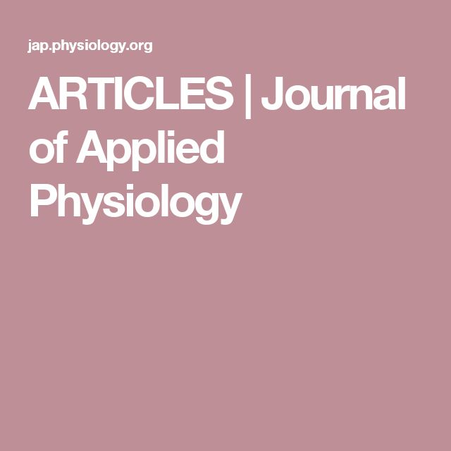 ARTICLES | Journal of Applied Physiology