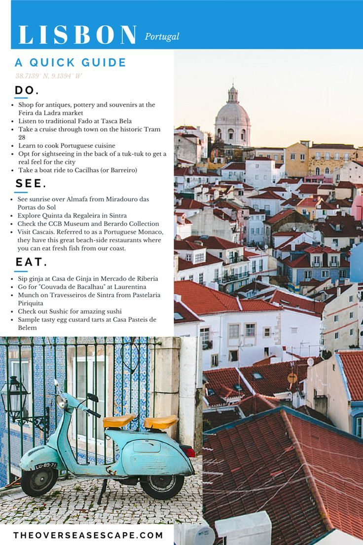 Pocket Guide to Lisbon, by theoverseasescape.com