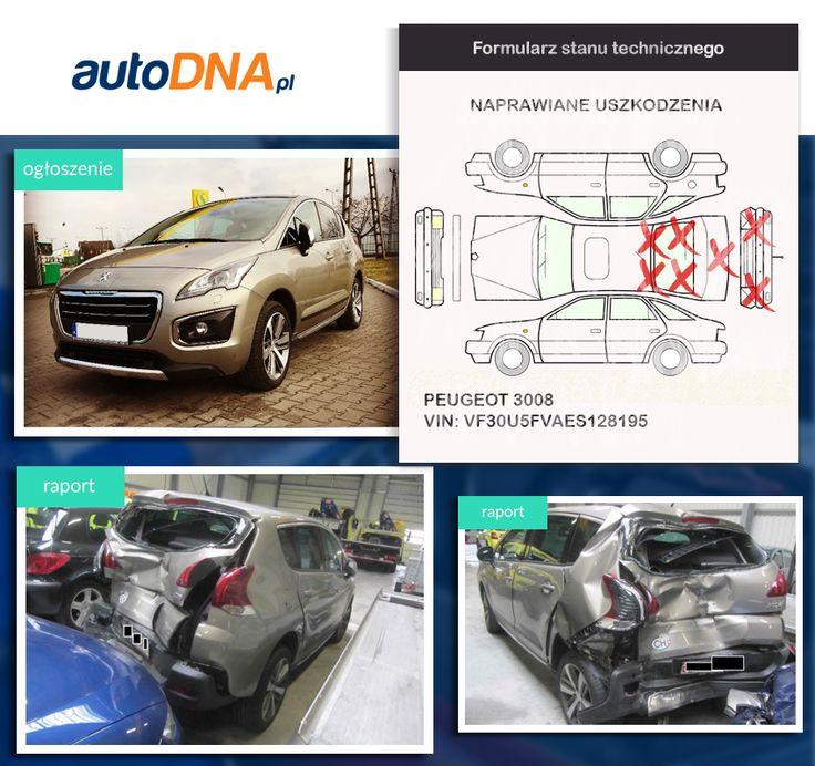 Baza #autoDNA - #UWAGA! #Peugeot 3008 https://www.autodna.pl/lp/VF30U5FVAES128195/auto/61fcce50e5b14407eab5061708267f91594b7db0  https://www.otomoto.pl/oferta/peugeot-3008-full-opcja-szklany-dach-bixenony-skretne-automat-ID6yNQ0X.html