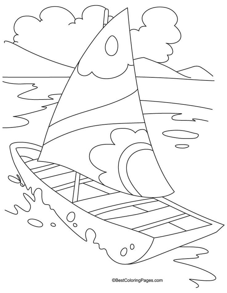 Yacht Transport Coloring Page