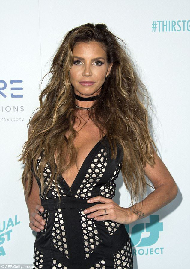 Charisma Carpenter wears plunging sheer gown #dailymail