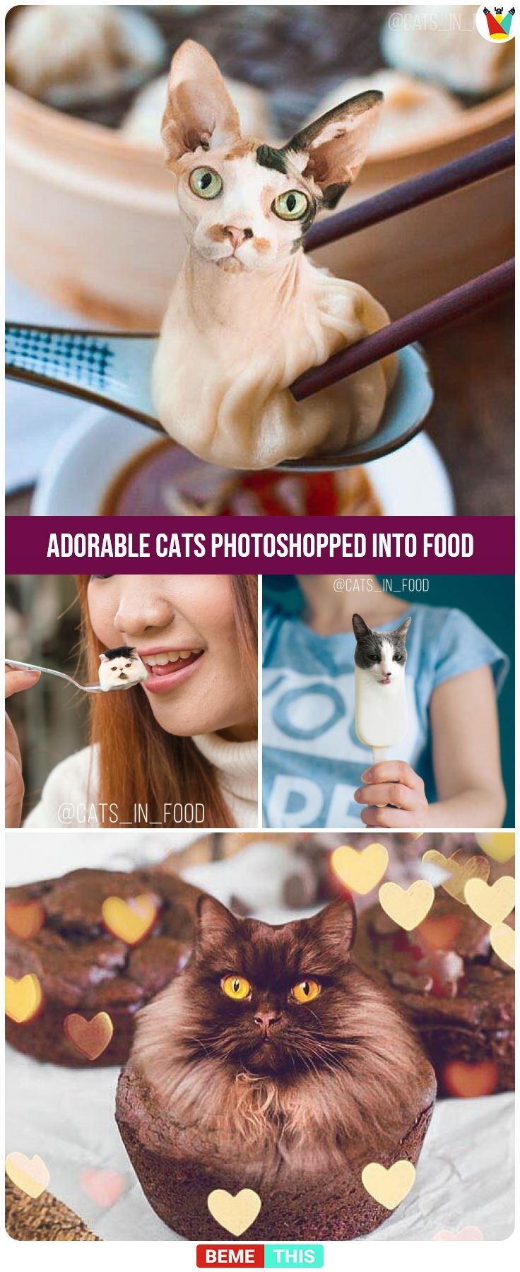Artist Photoshop Cats Into Food And The Results Are Hilariously Cute