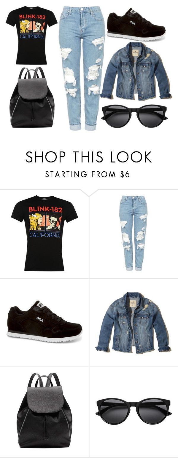 """""""Blink"""" by thisisalle on Polyvore featuring Topshop, Fila, Hollister Co. and Witchery"""