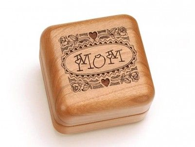 MOM Engraved Hinged Box #mothersday