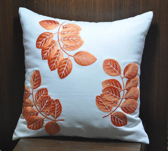 Hey, I found this really awesome Etsy listing at https://www.etsy.com/listing/153062842/orange-leaves-decorative-throw-pillow