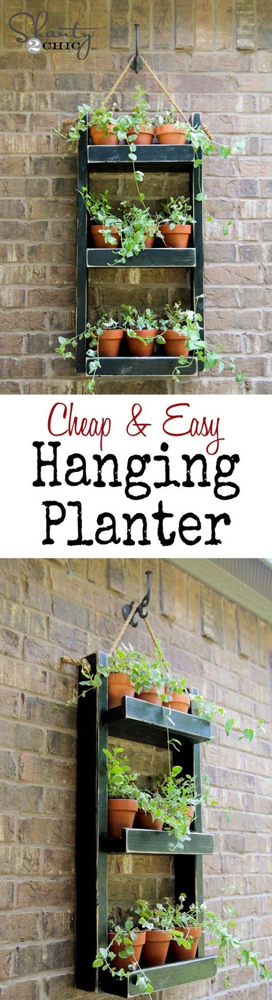 Cheap & easy hanging planter