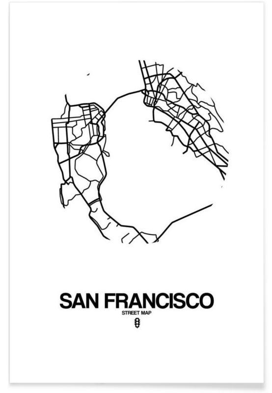 San Francisco en Affiche premium par Naxart   JUNIQE