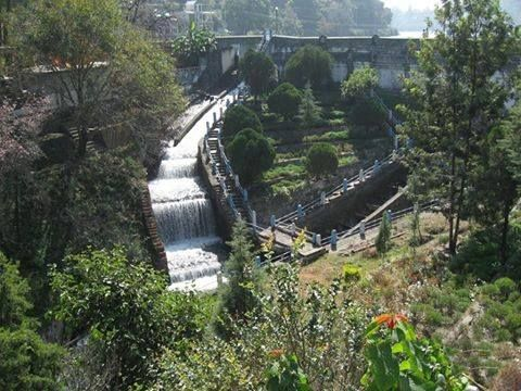 #picoftheday: Water flowing from #Bhimtal dam. Doesn't it look beautiful?