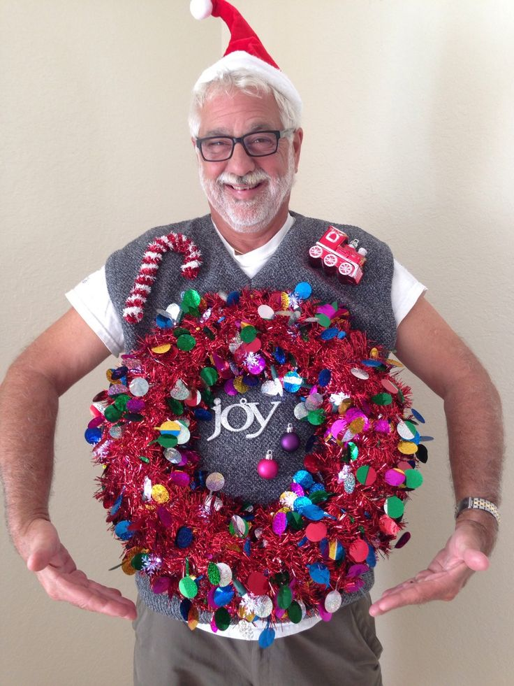 DIY sweater! Or just buy it! Ugly Christmas Sweater A personal favorite from my Etsy shop https://www.etsy.com/listing/256346529/ugly-light-up-christmas-sweater-mens