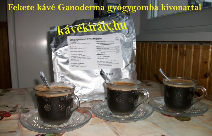Különleges, prémium minőségű fekete kávé DXN Ganoderma gyógygomba kivonattal.