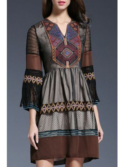 SHARE & Get it FREE | Sheer Sleeve Embroidered Ethnic DressFor Fashion Lovers only:80,000+ Items • New Arrivals Daily Join Zaful: Get YOUR $50 NOW!