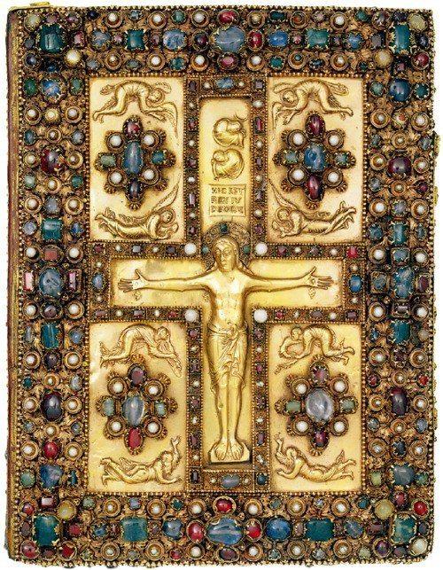 Распятие. Евангелие из Линдау, 870 г.