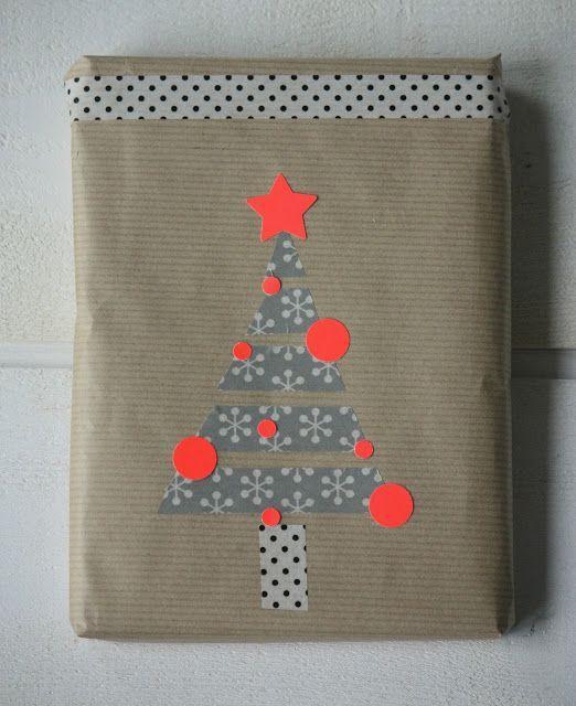Kerstcadeau met #washitape - Buy #maskingtape at www.vanmariel.nl
