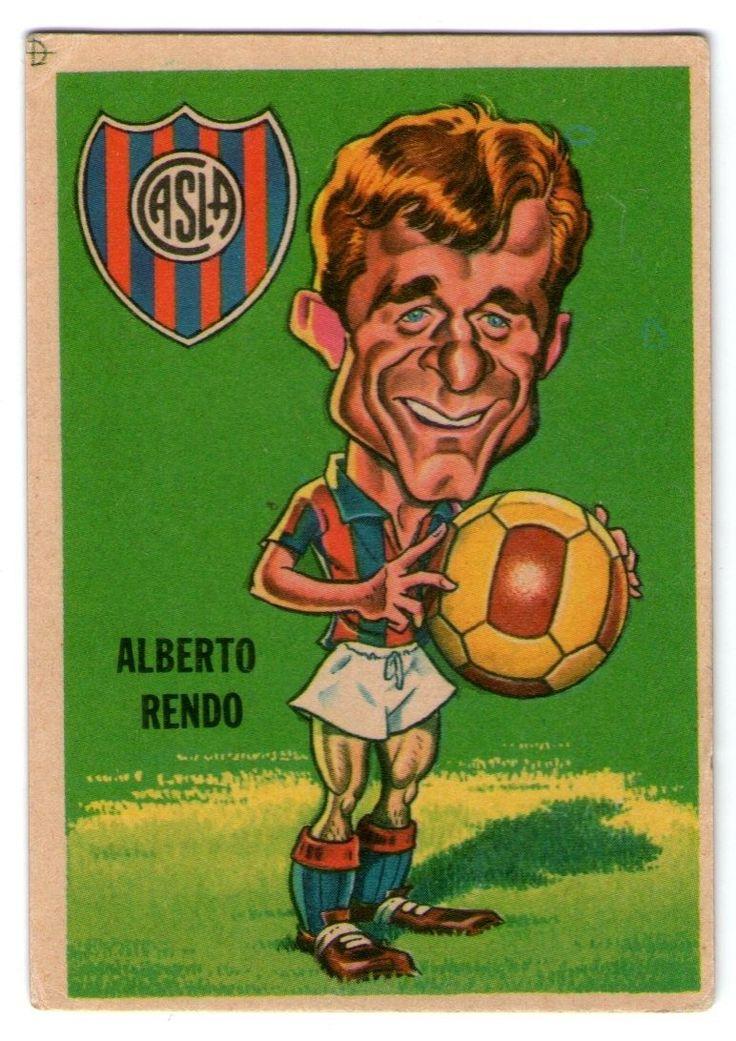 figurita tarjeton futbol sport 67 num 78 rendo (san lorenzo)