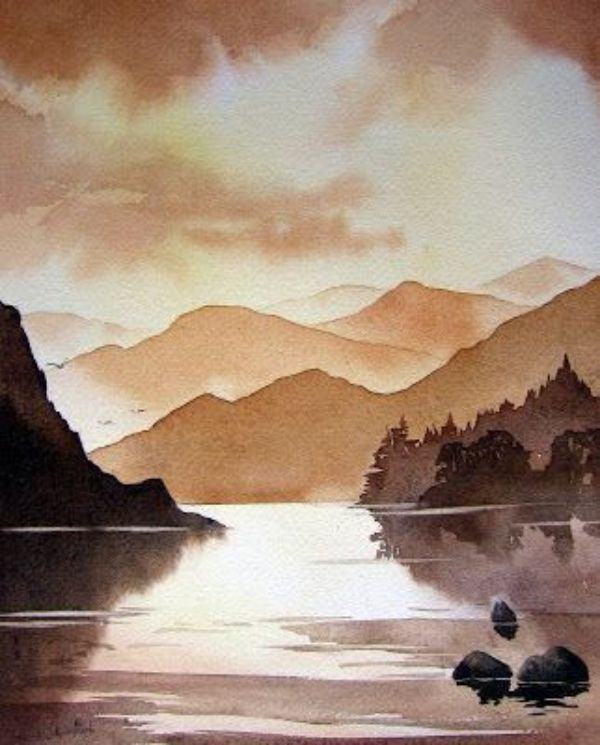 40 Easy Watercolor Landscape Painting Ideas For Beginners In 2020