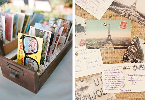 postcard guestbook?    yes please!
