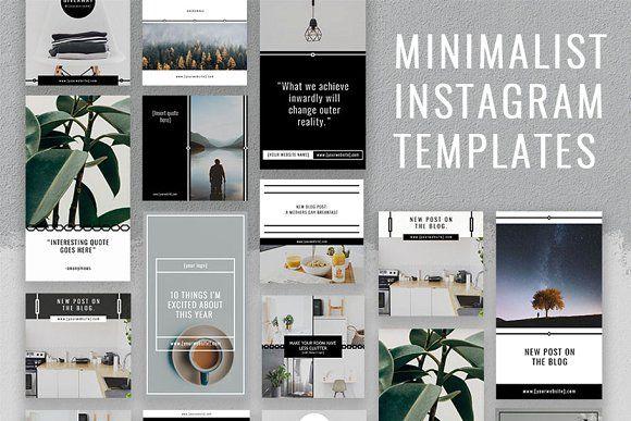 Minimalist 40 Instagram Templates By Colsiecreates On