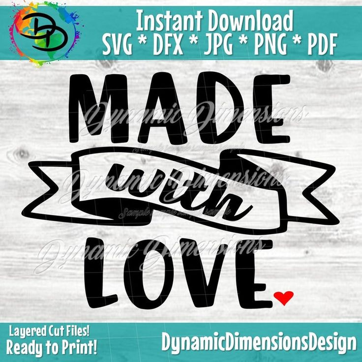 Download Made with Love SVG Valentine's Day File Kitchen   Etsy in ...