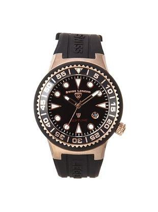 Swiss Legend Men's 21848D-RG-01-NB Neptune Black Silicone Watch