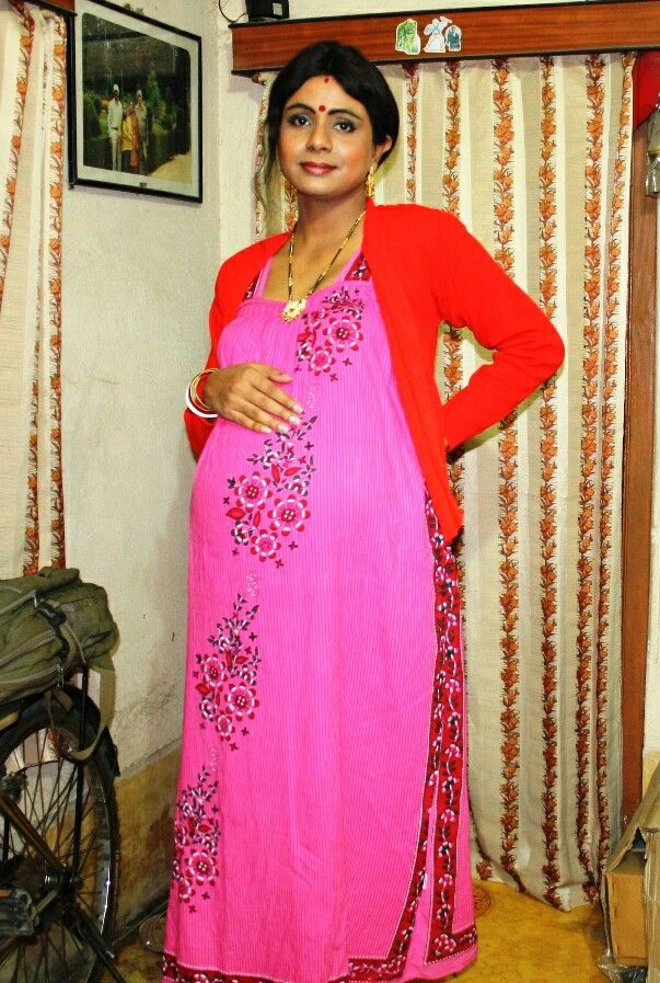Miss Sujaya Looking Like A Pregnant Housewife Transgender -6425